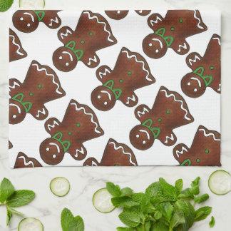 Lebkuchen-Dame Christmas Cookie Holiday Towel Küchenhandtuch