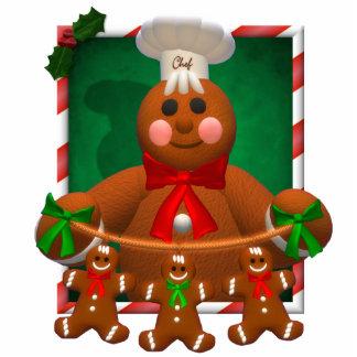 Lebkuchen-Familie: Lustiger Bäcker Photostatuen
