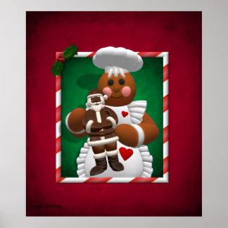 Lebkuchen-Familie: Schokoladen-Mädchen Poster