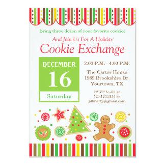 Lebkuchen-Feiertags-Plätzchen-Austausch-Einladung Karte