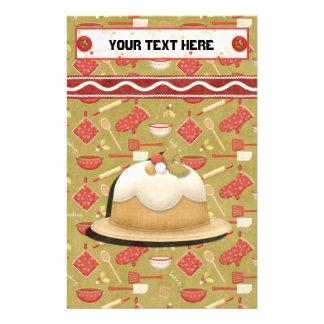 Lebkuchen-Feiertags-Rezept Mappe-Teiler Briefpapier