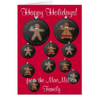 Lebkuchen für Weihnachten Karte