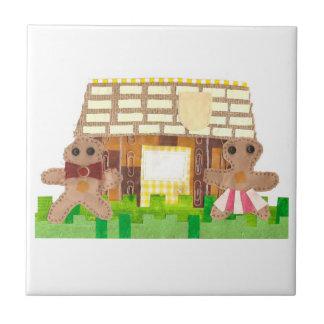 Lebkuchen-Haus-Paar-Fliese Fliese