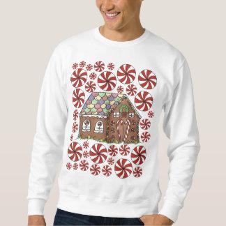 Lebkuchen-Haus-Süßigkeits-hässliche Sweatshirt