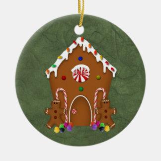 Lebkuchen-Haus-Verzierung Keramik Ornament