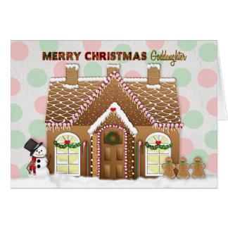 Lebkuchen-Haus-Weihnachten - Patenttochter Karte