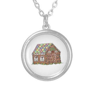 Lebkuchen-Haus-Weihnachtsfeiertags-Halskette Versilberte Kette