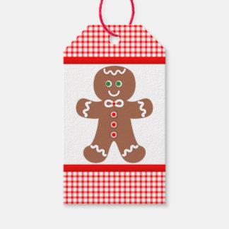 Lebkuchen-Jungen-Weihnachten Geschenkanhänger