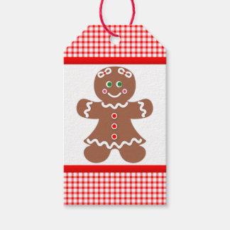 Lebkuchen-Mädchen-Weihnachten Geschenkanhänger
