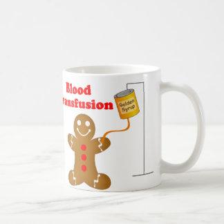 Lebkuchen-Mann-Blutbank und Bluttransfusion Kaffeetasse