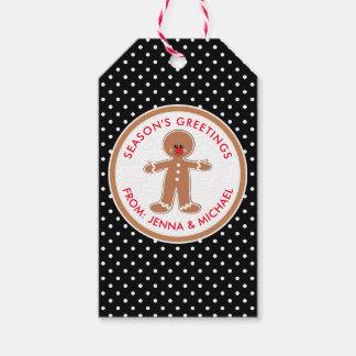 Lebkuchen-Mann der frohen Weihnacht-| Geschenkanhänger