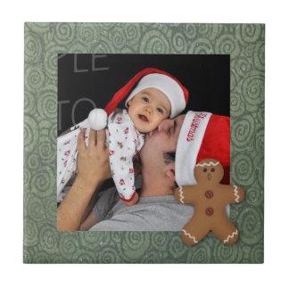 Lebkuchen-Mann-Feiertags-Foto-Fliese Keramikfliese