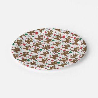 Lebkuchen-Mann-Feiertags-Muster Pappteller 17,8 Cm