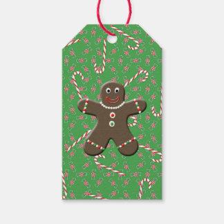 Lebkuchen-Mann-Feiertags-Süßigkeit Geschenkanhänger
