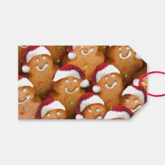 Lebkuchen-Mann-frohe Feiertage Geschenk-Umbauten Geschenkanhänger