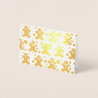 Lebkuchen-Mann-Gruß-Karte Folienkarte