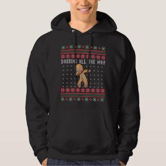 Lebkuchen-Mann-hässliches Weihnachten vollständig Hoodie