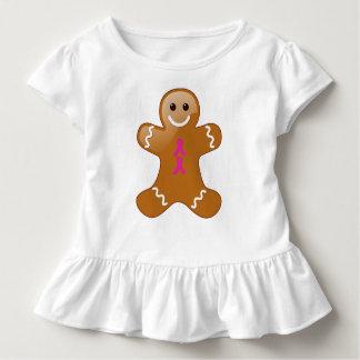Lebkuchen-Mann mit Pink-Bändern Kleinkind T-shirt