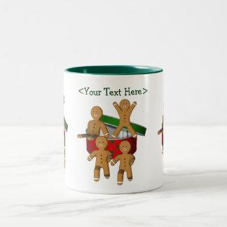 Lebkuchen-Mann-personalisierte Zweifarbige Tasse
