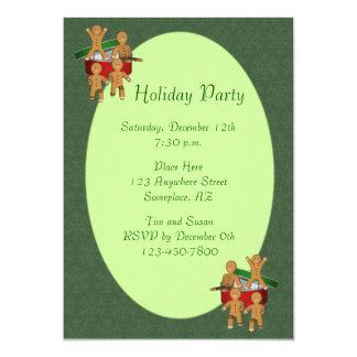 Lebkuchen-Mann-Plätzchen-Weihnachtsfeiertag 12,7 X 17,8 Cm Einladungskarte