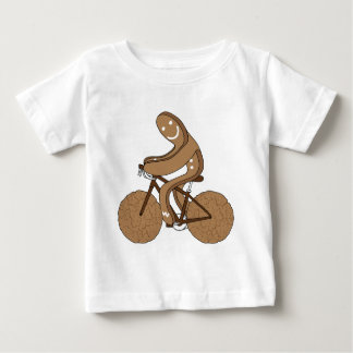 Lebkuchen-Mann-Reitfahrrad mit Gingersnap Baby T-shirt