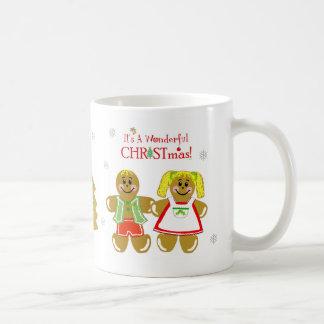 Lebkuchen-Mann u. Frauen-WeihnachtsTasse Kaffeetasse