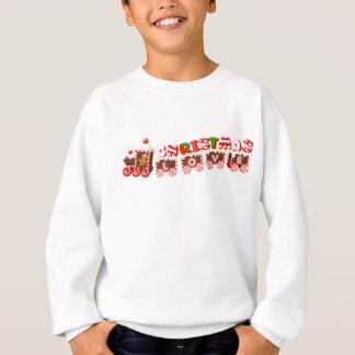 Lebkuchen-Mann u. WeihnachtsLiebe-Zug Sweatshirt