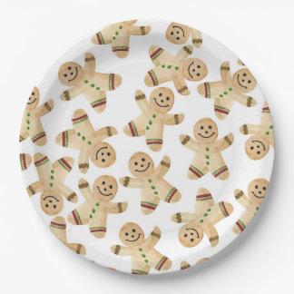 Lebkuchen-Mann-Weihnachtsabendessen-Papier-Teller Pappteller