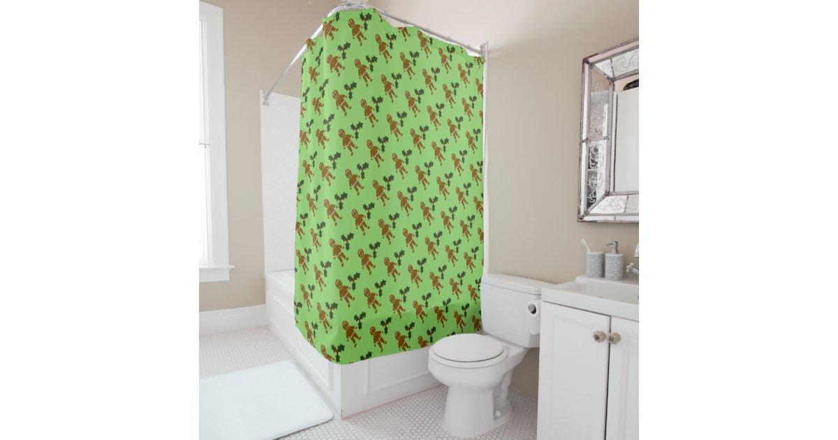 Lebkuchen-Mann-Weihnachtsduschvorhang Duschvorhang | Zazzle
