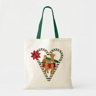 Lebkuchen-Mann-Weihnachtsfeiertag Budget Stoffbeutel