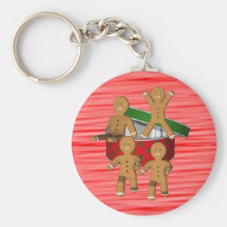 Lebkuchen-Mann-Weihnachtsfeiertag Keychain Standard Runder Schlüsselanhänger