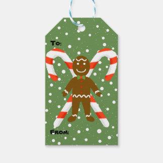Lebkuchen-Mann-Weihnachtsgeschenk-Umbauten Geschenkanhänger
