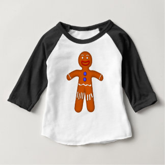 Lebkuchen-Mann-Zeichnen Baby T-shirt