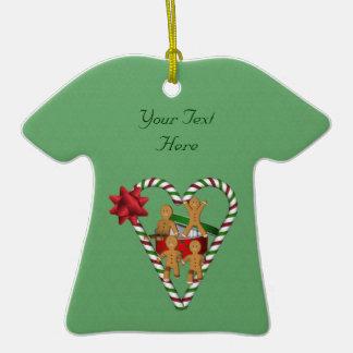 Lebkuchen-Mann-Zuckerstange-Herz-Feiertags-Verzier Weihnachtsbaum Ornament