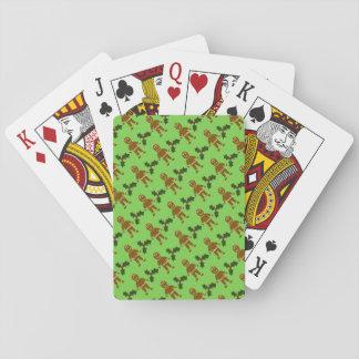 Lebkuchen-Männer u. Stechpalmen-Spielkarten Spielkarten
