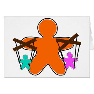 Lebkuchen-Marionetten-Mitteilungskarten Mitteilungskarte