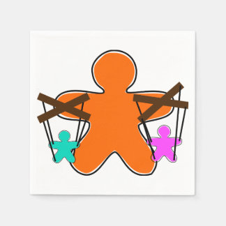 Lebkuchen-Marionetten-Papierservietten Servietten