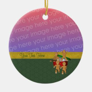 Lebkuchen-Plätzchen-Mann-Feiertags-Foto-Verzierung Ornament