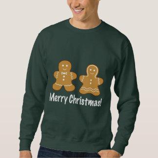 Lebkuchen-Plätzchen-Paar-frohe Weihnachten Sweatshirt