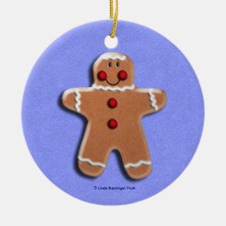 Lebkuchen-Plätzchen-Süßigkeiten blau Keramik Ornament