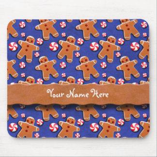Lebkuchen-Plätzchen-Süßigkeiten blau Mousepad