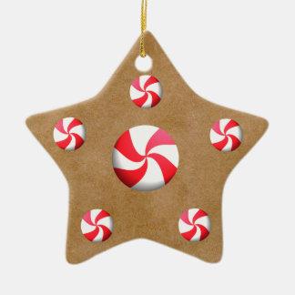 Lebkuchen-Plätzchen-Süßigkeiten Keramik Stern-Ornament