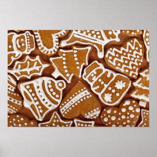 Lebkuchen-Plätzchen-Weihnachtsplakat Poster