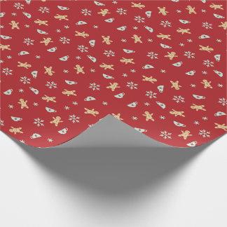 Lebkuchen, Tee-Schale, Schnee-Flocken-Packpapier Geschenkpapier