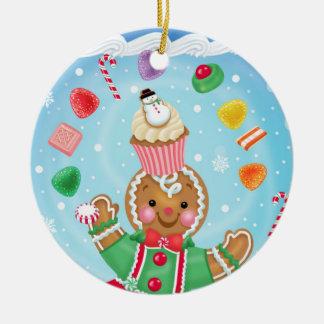 Lebkuchen-und Süßigkeits-Verzierung Keramik Ornament