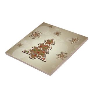 Lebkuchen-Weihnachtsbaum - Keramik-Fliese Keramikfliese