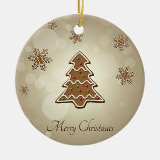 Lebkuchen-Weihnachtsbaum - Verzierung Rundes Keramik Ornament