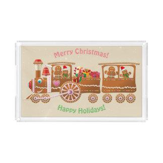 Lebkuchen-Weihnachtsdampf-Zug Acryl Tablett