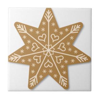 Lebkuchen Weihnachtsstern Keramikfliese