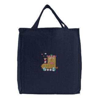 Lebkuchen-Zug Bestickte Tasche
